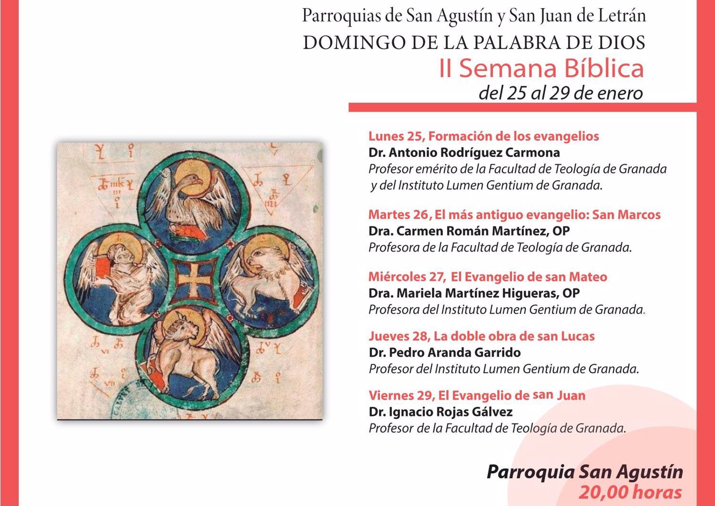 II Semana Bíblica organizada por las Parroquias San Agustín y San Juan de Letrán